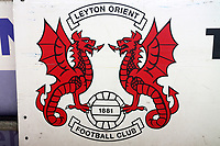 Leyton Orient club crest during Leyton Orient vs Oldham Athletic, Sky Bet EFL League 2 Football at The Breyer Group Stadium on 27th March 2021