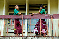 STUDENTS IN THE PUBLIC HIGH SCHOOL CHUUK, MICRONESIA, PACIFIC
