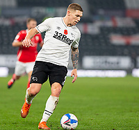 7th November 2020; Pride Park, Derby, East Midlands; English Football League Championship Football, Derby County versus Barnsley; Martyn Waghorn of Derby County with the ball at his feet