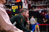 STANFORD, CA - March 7, 2020: Assistant Coach Lee Pritts during the 2020 Pac-12 Wrestling Championships at Maples Pavilion.