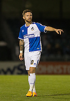 Goal scorer Matty Taylor of Bristol Rovers during the Johnstone's Paint Trophy match between Bristol Rovers and Wycombe Wanderers at the Memorial Stadium, Bristol, England on 6 October 2015. Photo by Andy Rowland.