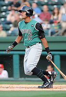 Third baseman Chris Dominguez (19) of the Augusta GreenJackets, Class A affiliate of the San Francisco Giants, in a game against the Greenville Drive on May 20, 2010, at Fluor Field at the West End in Greenville, S.C. Dominguez is a 2009 third-round draft pick. He was named to the 2010 South Atlantic League All-Star team. Photo by: Tom Priddy/Four Seam Images
