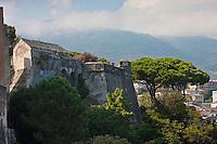 Europe/France/Corse/2B/Haute-Corse/Cap Corse/Nebbio/Bastia: Remparts et échauguette de la Citadelle
