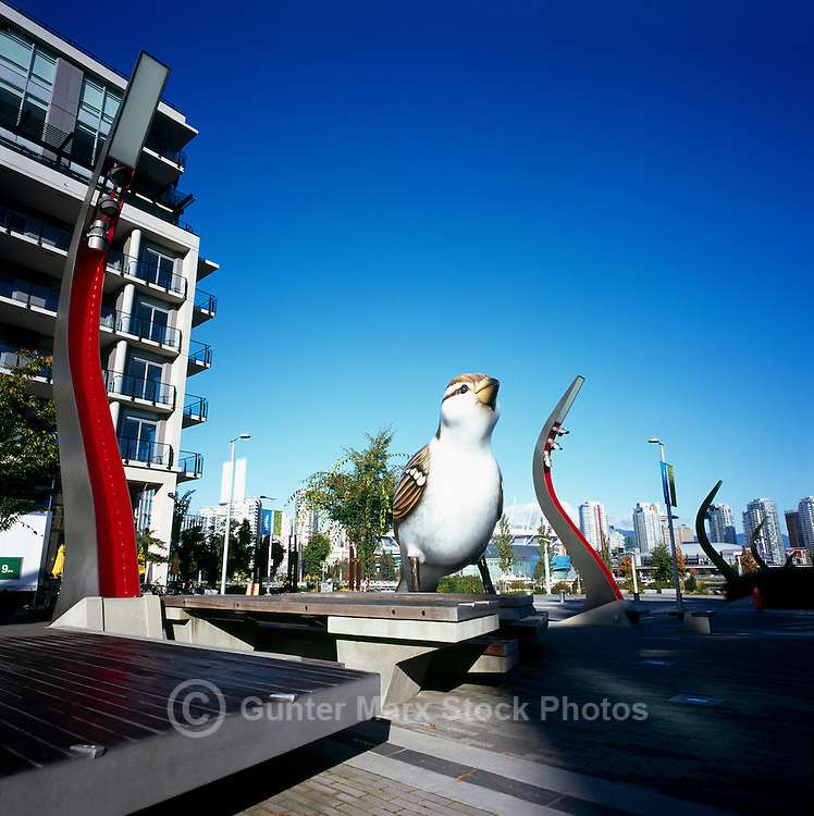 "the ""Sparrows"" Sculpture at ""Village at False Creek"" previous ""Olympic Village"", Vancouver B.C. Canada.October 2011"