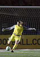 Boston Breakers goalkeeper Kristin Luckenbill (1). The Boston Breakers defeated Saint Louis Athletica, 2-0, at Harvard Stadium on April 11, 2009.