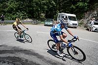 Julian Alaphilippe (FRA/Deceuninck - Quick-Step) & Lennard Hofstede (NED/Jumbo-Visma) are the day's breakaway group<br /> <br /> Stage 7: Saint-Genix-les-Villages to Pipay  (133km)<br /> 71st Critérium du Dauphiné 2019 (2.UWT)<br /> <br /> ©kramon