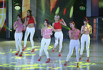 """AOA, Jul 24, 2014 : South Korean girl group AOA perform at the 10th anniversary live special of weekly music chart show, """"M! Countdown"""" of Mnet in Goyang, north of Seoul, South Korea. (Photo by Lee Jae-Won/AFLO) (SOUTH KOREA)"""