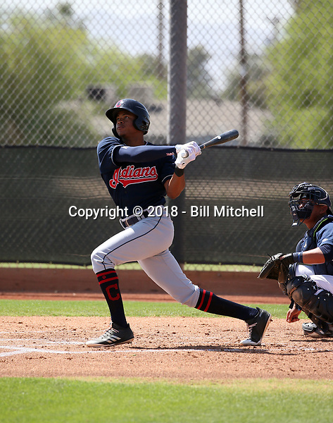 Quentin Holmes - Cleveland Indians 2018 extended spring training (Bill Mitchell)