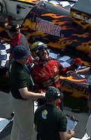 "Jeff Richards, GP-101 ""Pavages Chenail,  celebrates victory."