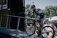 Michael Albasini (AUS/Orica-Scott) onto the sign-on podium<br /> <br /> 104th Tour de France 2017<br /> Stage 14 - Blagnac › Rodez (181km)