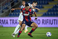 Salvatore Molina of FC Crotone and Alvaro Morata of Juventus FC compete for the ball during the Serie A football match between FC Crotone and Juventus FC at stadio Ezio Scida in Crotone (Italy), October 17th, 2020. Photo Federico Tardito / Insidefoto