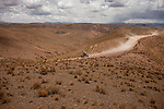 Quad racer Kees Koolen from Holland driving his Honda during the 5th stage of the Dakar Rally 2016 in the Bolivian Altiplano.