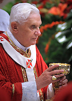 Pope Benedict XVI,  celebrate a ceremony in memory of St. Paul, at St. Paul's Basilica Outside the Walls, in Rome,..June 28, 2008.
