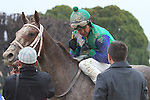 February 22, 2015: Jockey Mike Smith talking racing with trainer Ron Moquett after winning aboard Far Right in South West Stakes (Grade III) at Oaklawn Park in Hot Springs, AR. Justin Manning/ESW/CSM