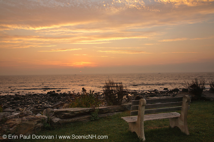 Sunrise from Rye Harbor State Park in Rye, New Hampshire USA