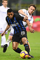 Albin Ekdal of Sampdoria , Dalbert of Internazionale <br /> Milano 17-2-2019 Stadio Giuseppe Meazza in San Siro Football Serie A 2018/2019 FC Internazionale  - UC Sampdoria Foto Image Sport / Insidefoto