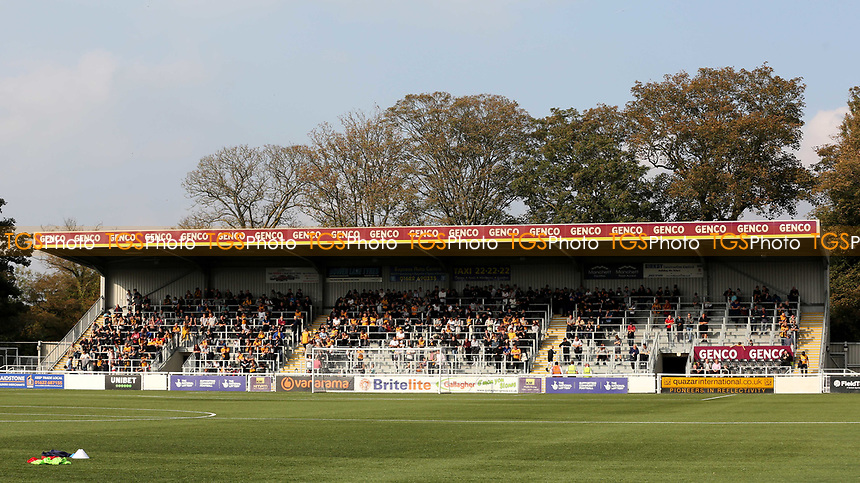 General view of The Genco Stand at Maidstone United FC during Maidstone United vs Eastbourne Borough, Vanarama National League South Football at the Gallagher Stadium on 9th October 2021