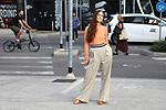 Erika Boldrin outside the Alberta Ferretti Fashion Show as part of the Milan's Fashion Week Women's wear Spring Summer 2019, in Milan on September 19, 2018. Erika Boldrin