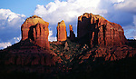 Cathedral Rock, located in Red Rock State Park in Sedona, Arizona, is probably one of the most photographed landmarks in the world. Hiking trails lead to the base of the formation where stunning views of Oak Creek and the surrounding hills can be enjoyed.