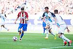 Atletico de Madrid's player Yannick Carrasco and Deportivo de la Coruña's players Borja Valle and Fernando Navarro during a match of La Liga Santander at Vicente Calderon Stadium in Madrid. September 25, Spain. 2016. (ALTERPHOTOS/BorjaB.Hojas)