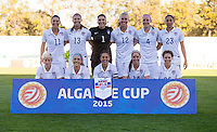 Vila Real de Santo Antonio, Portugal - Friday, March 6, 2015: The USWNT defeated Switzerland 3-0 during the Algarve Cup at Municipal Stadium.