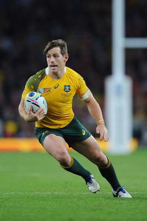 Bernard Foley of Australia in action during Match 35 of the Rugby World Cup 2015 between Australia and Wales - 10/10/2015 - Twickenham Stadium, London<br /> Mandatory Credit: Rob Munro/Stewart Communications