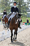LEXINGTON, KY - APRIL 29: #57 AP Prime and rider Leah Lang-Gluscic in the warm up ring before their Dressage test in the Rolex Three Day Event, Dressage Day 2, at the Kentucky Horse Park in Lexington, KY.  April 29, 2016 in Lexington, Kentucky. (Photo by Candice Chavez/Eclipse Sportswire/Getty Images)