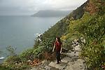 sentier entre Corniglia et Vernazza. Parc national des Cinque Terre. Ligurie. Italie..