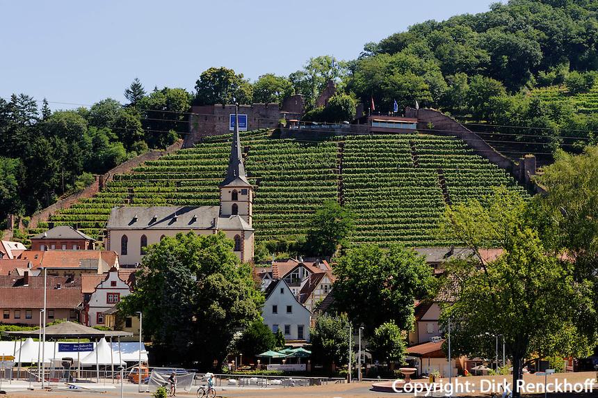 Blick auf Clingenburg und Klingenberg am Main, Bayern, Deutschland