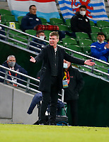 27th March 2021; Aviva Stadium, Dublin, Leinster, Ireland; 2022 World Cup Qualifier, Ireland versus Luxembourg; Stephen Kenny Ireland head coach reacts to a call