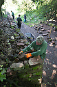 "24/05/16 <br /> <br /> Steve Clifton works on the wall.<br /> <br /> A mammouth restoration project, that could take up to twenty years to complete, is underway on the forgotten ancient stone walls that were once part of an intriguing track way, which pre-dates the railways.<br /> <br /> FULL STORY HERE:  http://www.fstoppress.com/articles/forgotten-stone-walls-set-for-restoration/<br /> <br /> .Imagine a giant 3D jigsaw puzzle with no instructions, and you have an idea of the challenge facing  these traditional dry-stone wallers, who are hard at work restoring the Cauldon Plateway, a relic of Staffordshire's industrial history.<br /> <br /> It's back-breaking work, as each stone has to be returned as close as possible to its original position according to weight and size, with bigger, heavier stones towards the bottom and a rounded ""coping"" stone at the very top.<br /> <br /> All Rights Reserved: F Stop Press Ltd. +44(0)1335 418365   +44 (0)7765 242650 www.fstoppress.com"