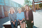 TechSisters Hanna-Mari Kirs, Mari-Liis Lind und Janika Liiv  im Kreativviertel Telliskivi in Tallinn (Estland).