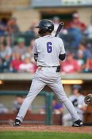 Grand Junction Rockies Walking Cabrera (6) at bat during a Pioneer League game against the Grand Junction Rockies at Dehler Park on August 15, 2019 in Billings, Montana. Billings defeated Grand Junction 11-2. (Zachary Lucy/Four Seam Images)