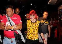 SAO PAULO, SP, 18 DE FEVEREIRO 2012 - CAMAROTE BAR BRAHMA - A cantora Rita Lee e vista no Camarote Bar Brahma, no primeiro dia de desfiles do Grupo Especial do Carnaval de Sao Paulo, na noite deste sabado 18, no Sambodromo do Anhembi regiao norte da capital paulista. (FOTO: MILENE CARDOSO - BRAZIL PHOTO PRESS).