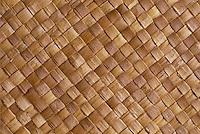 Lauhala mat, close up