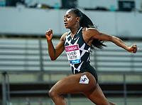 10th June 2021; Stadio Luigi Ridolfi, Florence, Tuscany, Italy; Muller Diamond League Grand Prix Athletics, Florence andRome; Dina Asher Smith strides ahead to win the women's 200m