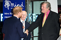 Prince Harry and Stephen Fry<br /> arriving for the Giving Mind Media Awards 2017 at the Odeon Leicester Square, London<br /> <br /> <br /> ©Ash Knotek  D3350  13/11/2017
