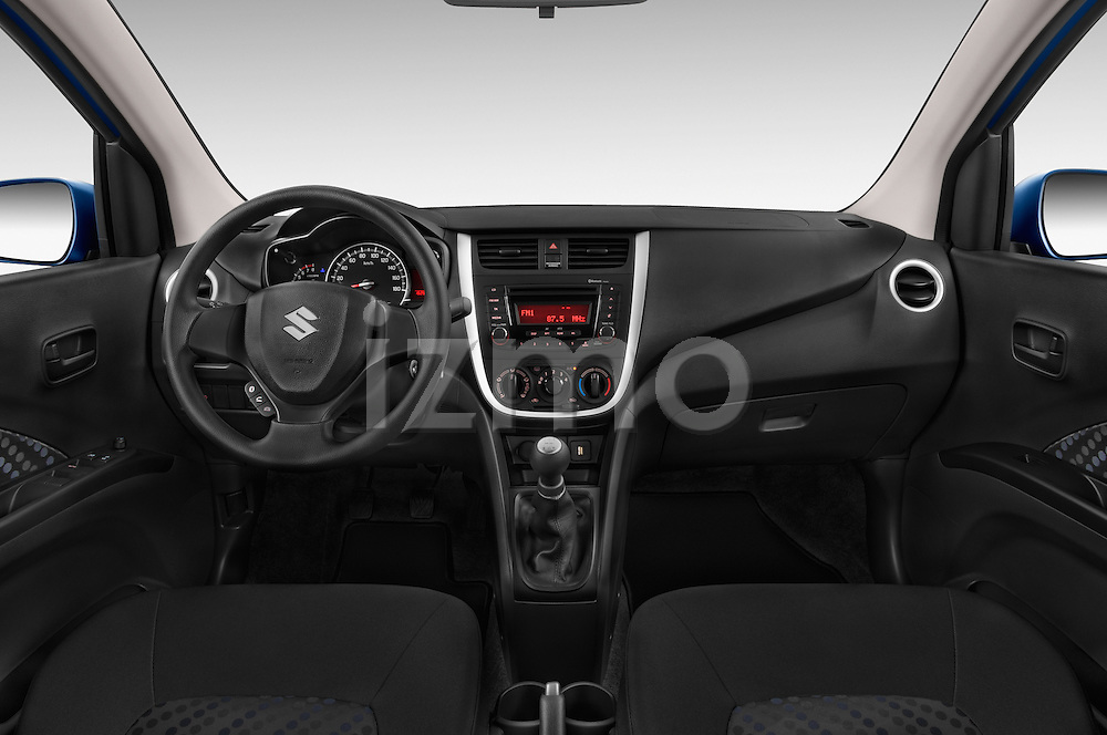 Stock photo of straight dashboard view of a 2015 Suzuki CELERIO Grand Luxe Xtra 5 Door Hatchback Dashboard