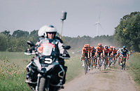 "Team Roompot-NederlandseLoterij at the helm over the cobbles<br /> <br /> Antwerp Port Epic 2018 (formerly ""Schaal Sels"")<br /> One Day Race:  Antwerp > Antwerp (207 km; of which 32km are cobbles & 30km is gravel/off-road!)"