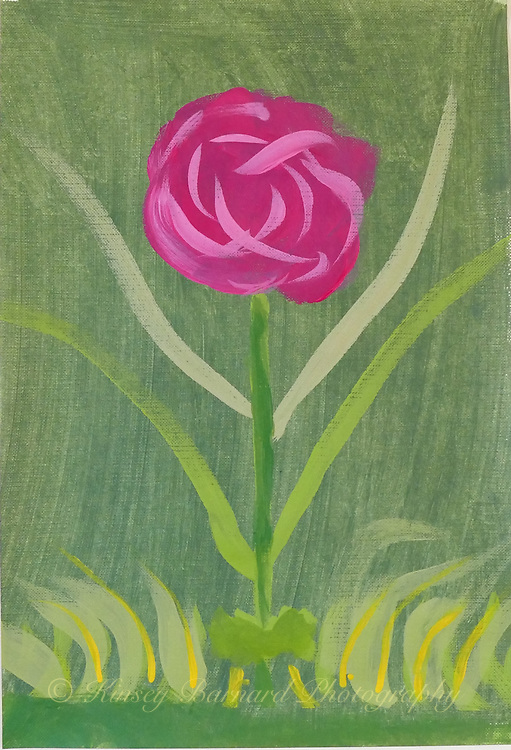 I actually set out to paint a rose. I watched a video on the subject so I thought I'd give it a try.<br /> <br /> Painted on 9 x 12 canvas paper.