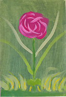 I actually set out to paint a rose. I watched a video on the subject so I thought I'd give it a try.<br />