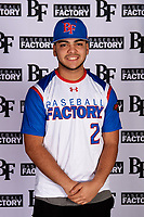 Nicholas LoMonaco (2) of William Floyd High School in Shirley, New York during the Baseball Factory All-America Pre-Season Tournament, powered by Under Armour, on January 12, 2018 at Sloan Park Complex in Mesa, Arizona.  (Mike Janes/Four Seam Images)