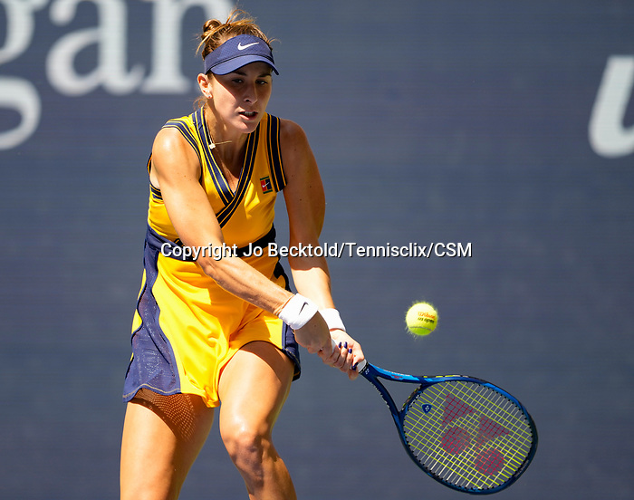 September  8, 2021:   Belinda Bencic (SUI) loses to Emma Raducanu (GBR),6-3, 6-4 at the US Open being played at Billy Jean King National Tennis Center in Flushing, Queens, New York, {USA} ©Jo Becktold/Tennisclix/CSM