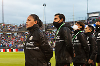 EAST HARTFORD, CT - JULY 1: Mexico head coach Monica Vergara before a game between Mexico and USWNT at Rentschler Field on July 1, 2021 in East Hartford, Connecticut.