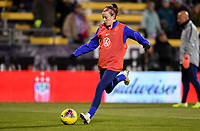 COLUMBUS, OH - NOVEMBER 07: Rose Lavelle #16 of the United States warming up during a game between Sweden and USWNT at MAPFRE Stadium on November 07, 2019 in Columbus, Ohio.