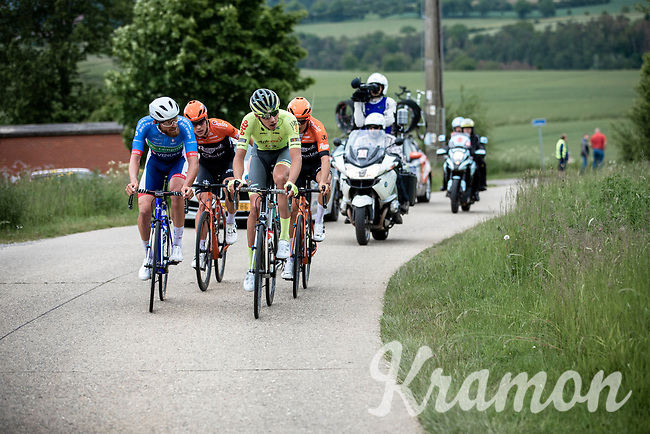 Adrien Petit (FRA/Total - Direct Energie), Ludovic Robeet (BEL/Wallonie Bruxelles) in front! <br /> <br /> Circuit de Wallonie 2019<br /> One Day Race: Charleroi – Charleroi 192.2km (UCI 1.1.)<br /> Bingoal Cycling Cup 2019