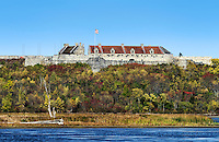 Fort Ticonderoga overlooking  Lake Champlain, New York, USA.