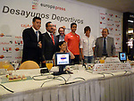 Desayunos Deportivos de Europa Press, con atletas discapacitados.