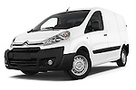 Stock pictures of low aggressive front three quarter view of a 2015 Citroen Jumpy L1H1 Ft10 4 Door Cargo Van
