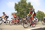 The peloton including Freddy Ovett (AUS) BMC Racing Team during the 99th edition of Milan-Turin 2018, running 200km from Magenta Milan to Superga Basilica Turin, Italy. 10th October 2018.<br /> Picture: Eoin Clarke | Cyclefile<br /> <br /> <br /> All photos usage must carry mandatory copyright credit (© Cyclefile | Eoin Clarke)
